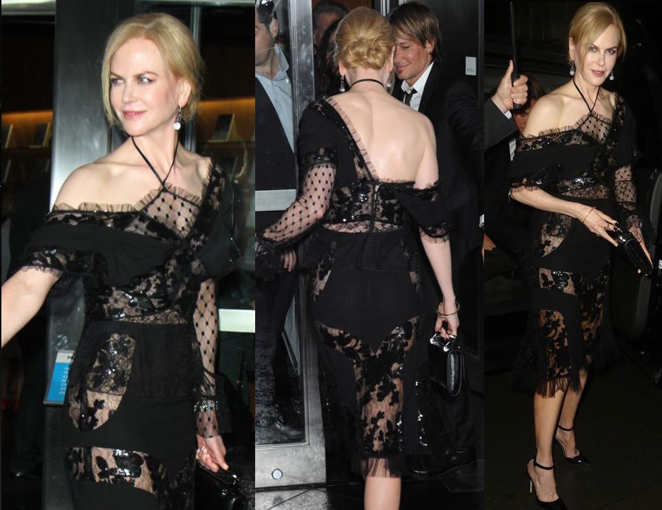 49-letnia Nicole Kidman w naked dress w Nowym Jorku