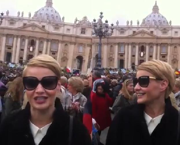 Kożuchowska w Watykanie: Jestem wzruszona, że mogę tutaj być!